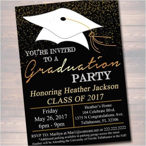 editable graduation party invitation