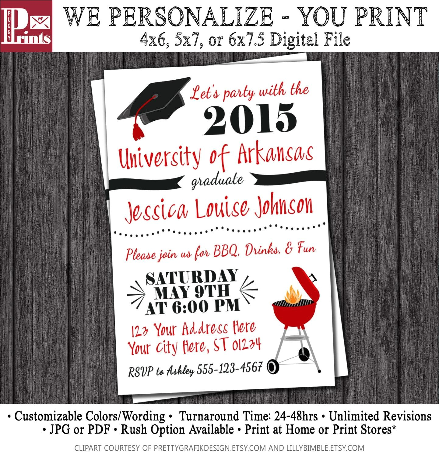 High School Graduation Party Invites Graduation Party Invites Party Invitations Templates