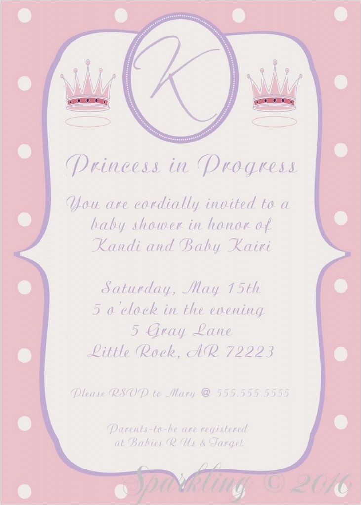 how to create princess baby shower invitations templates with winsome layout 1