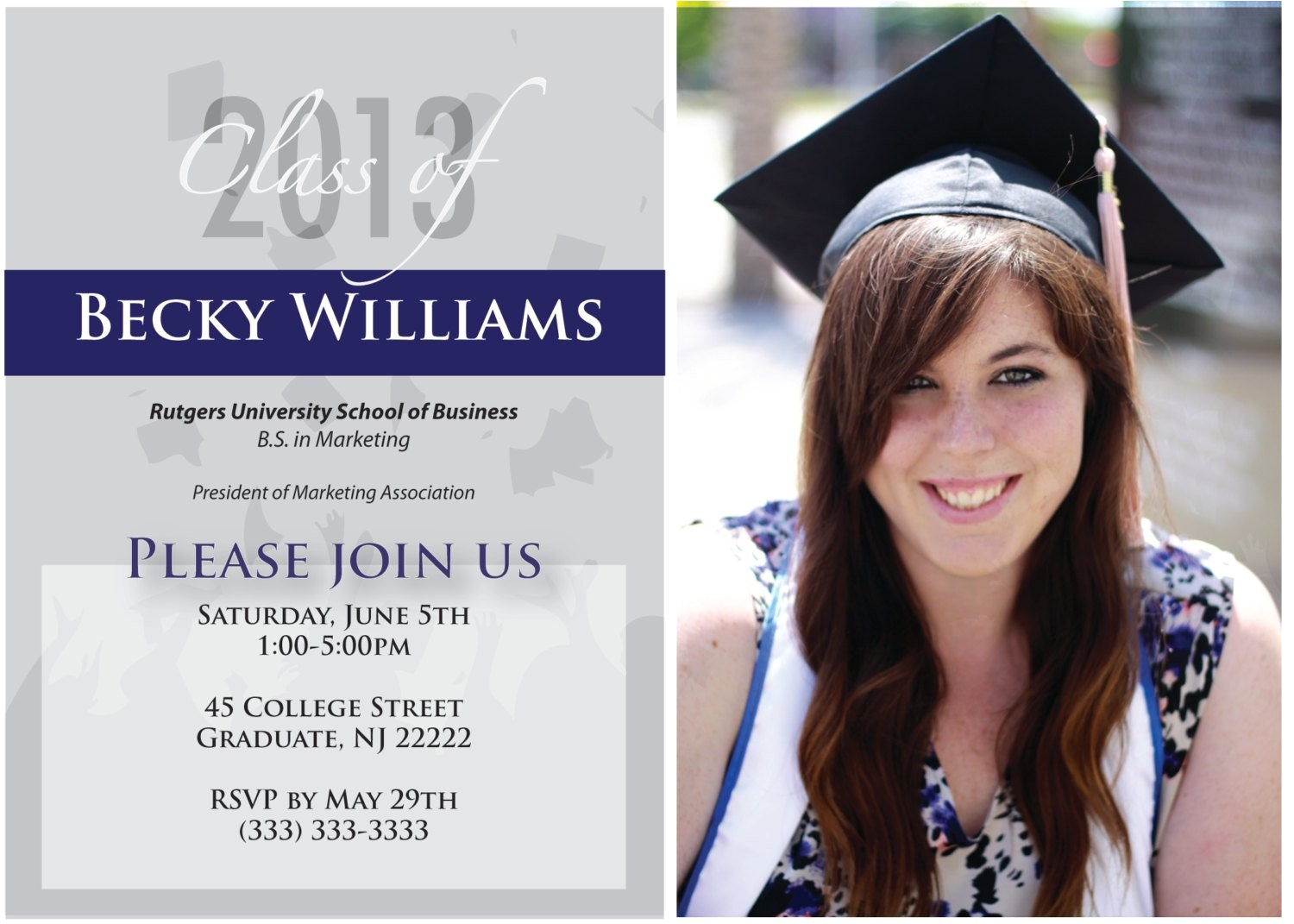 custom graduation invitations college