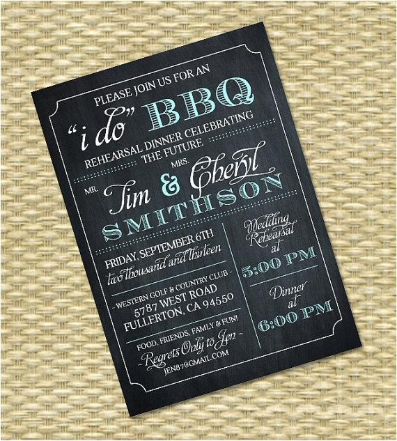 i do bbq invitation rehearsal dinner wedding bridal shower birthday invitation chalkboard typography any color scheme any event