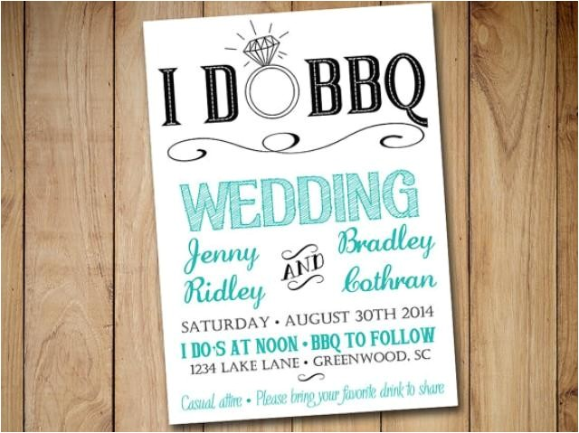 i do bbq wedding invitation template download blue teal black 5x7 wedding printable rustic wedding download
