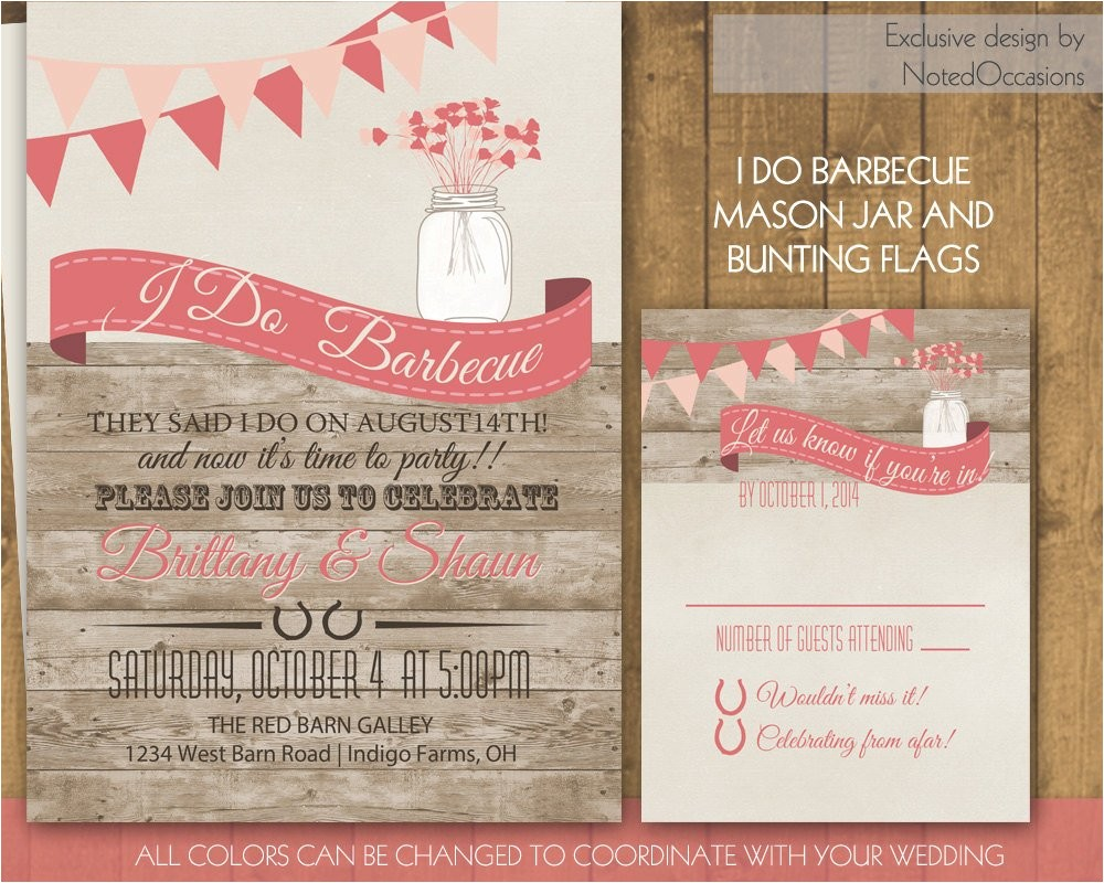 i do bbq wedding invitation wedding