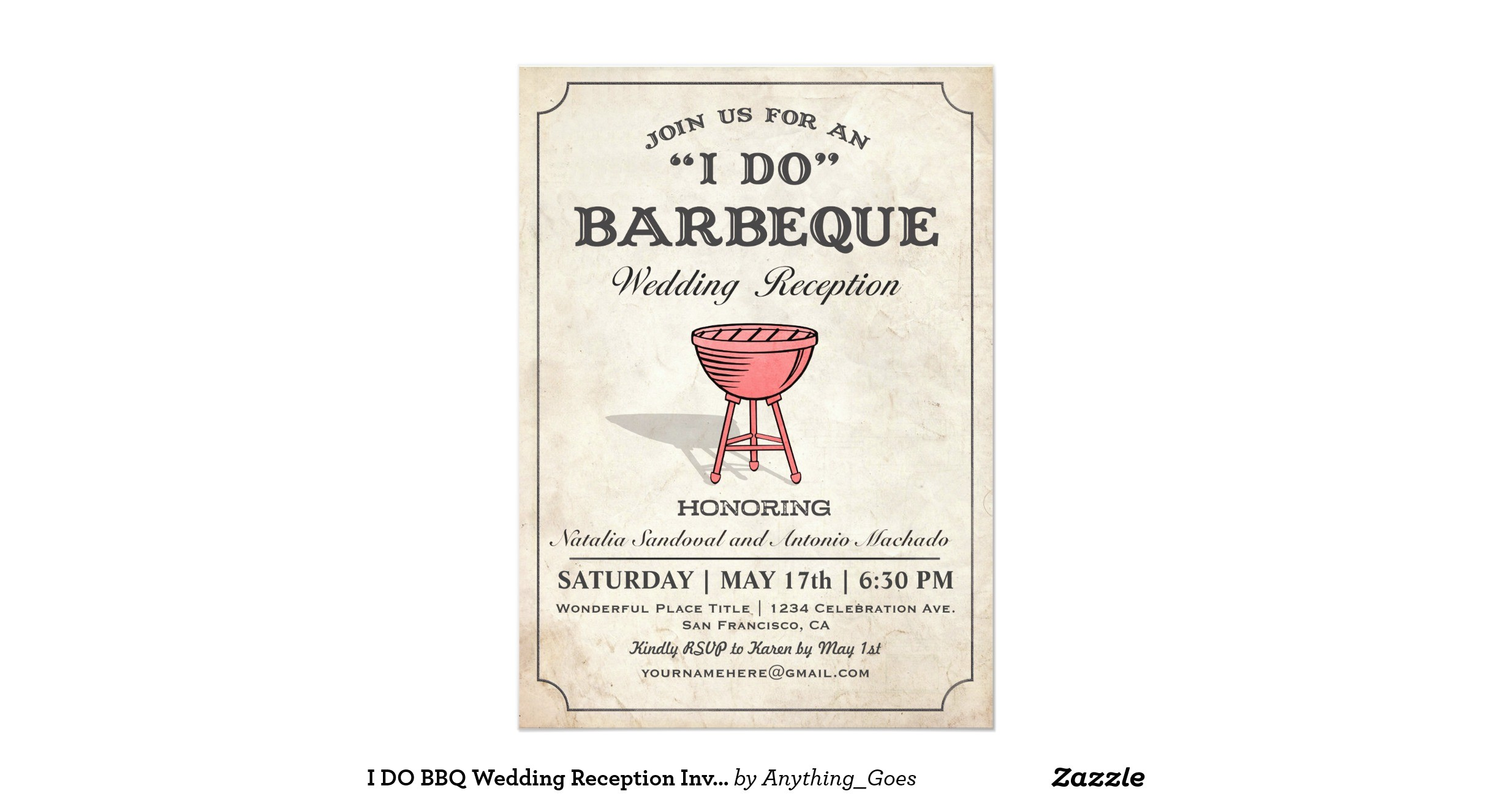 i do bbq wedding reception invitations 256650887003167130