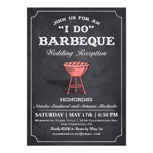 i do bbq wedding reception invitations 256846244957142984
