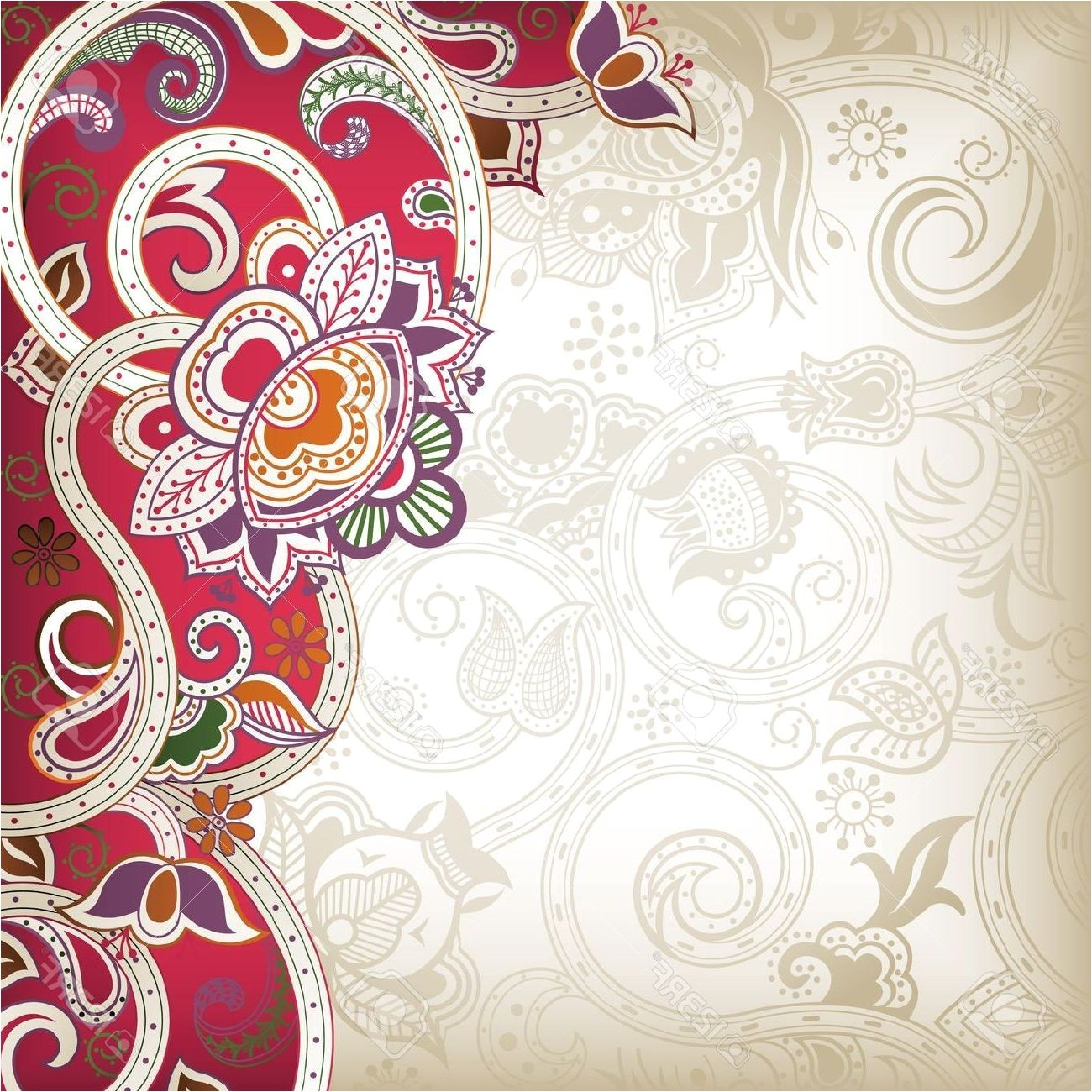 indian wedding invitation background designs free download