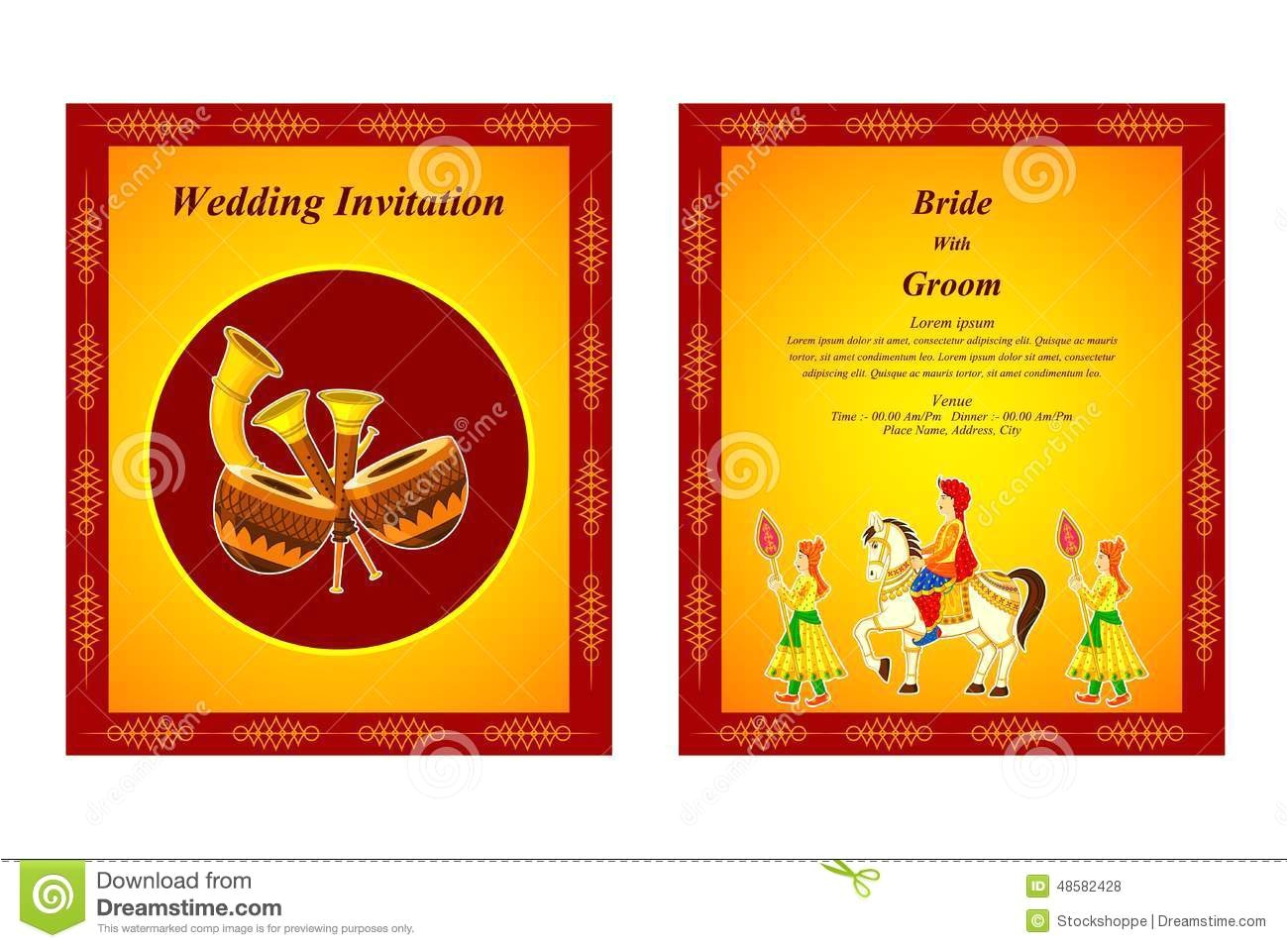 indian wedding invitation cards designs free download