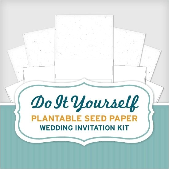 do it yourself plantable seed paper weddin