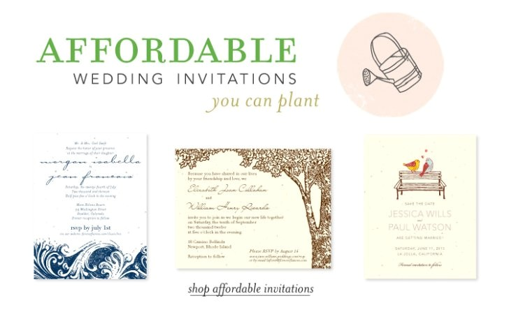 Inexpensive Plantable Wedding Invitations Inexpensive Seeded Wedding Invitations Good Plantable