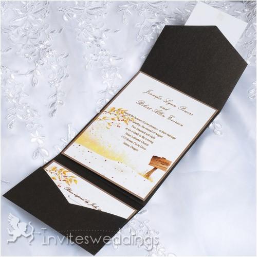 cheap garden rustic tree pocket wedding invitation iwps095 p 462