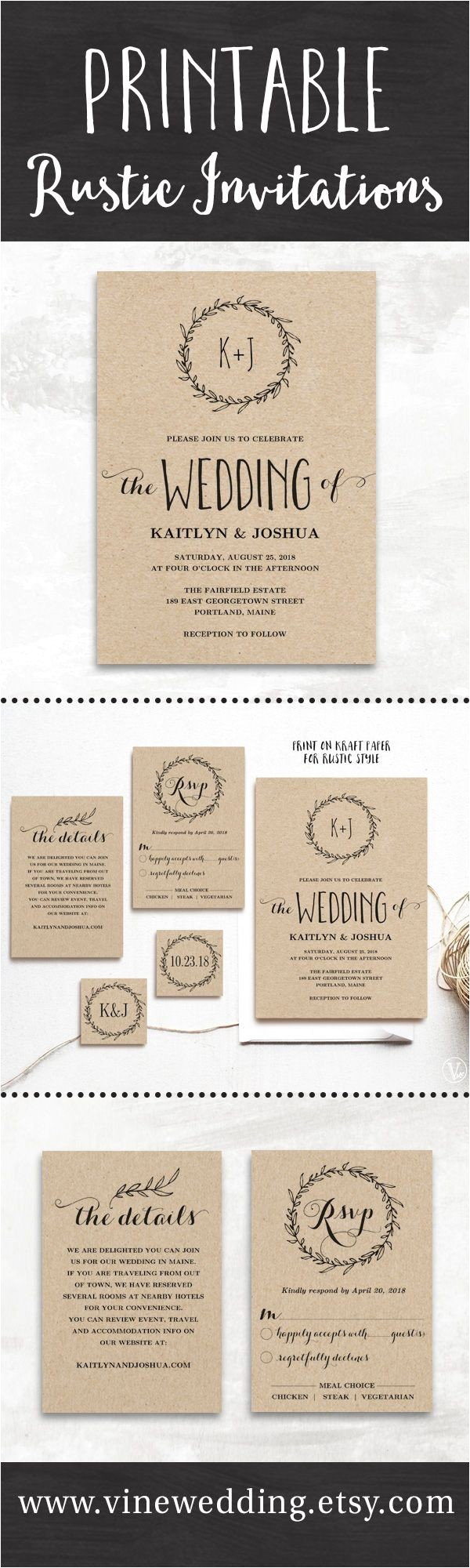 information to put on wedding invitation