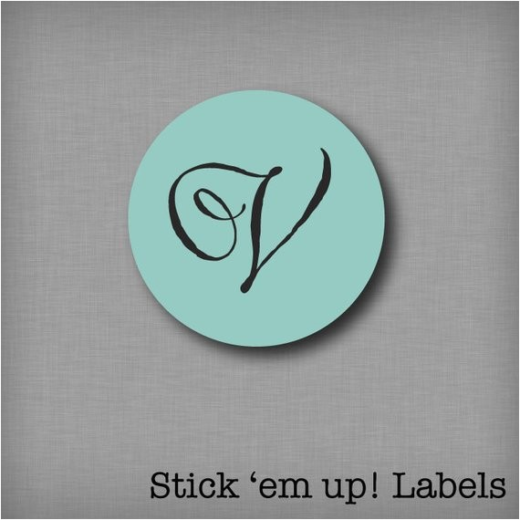 custom monogram sticker envelope seals wedding