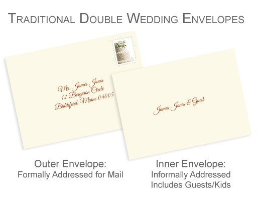 properly address your pocket invitations without inner envelopes