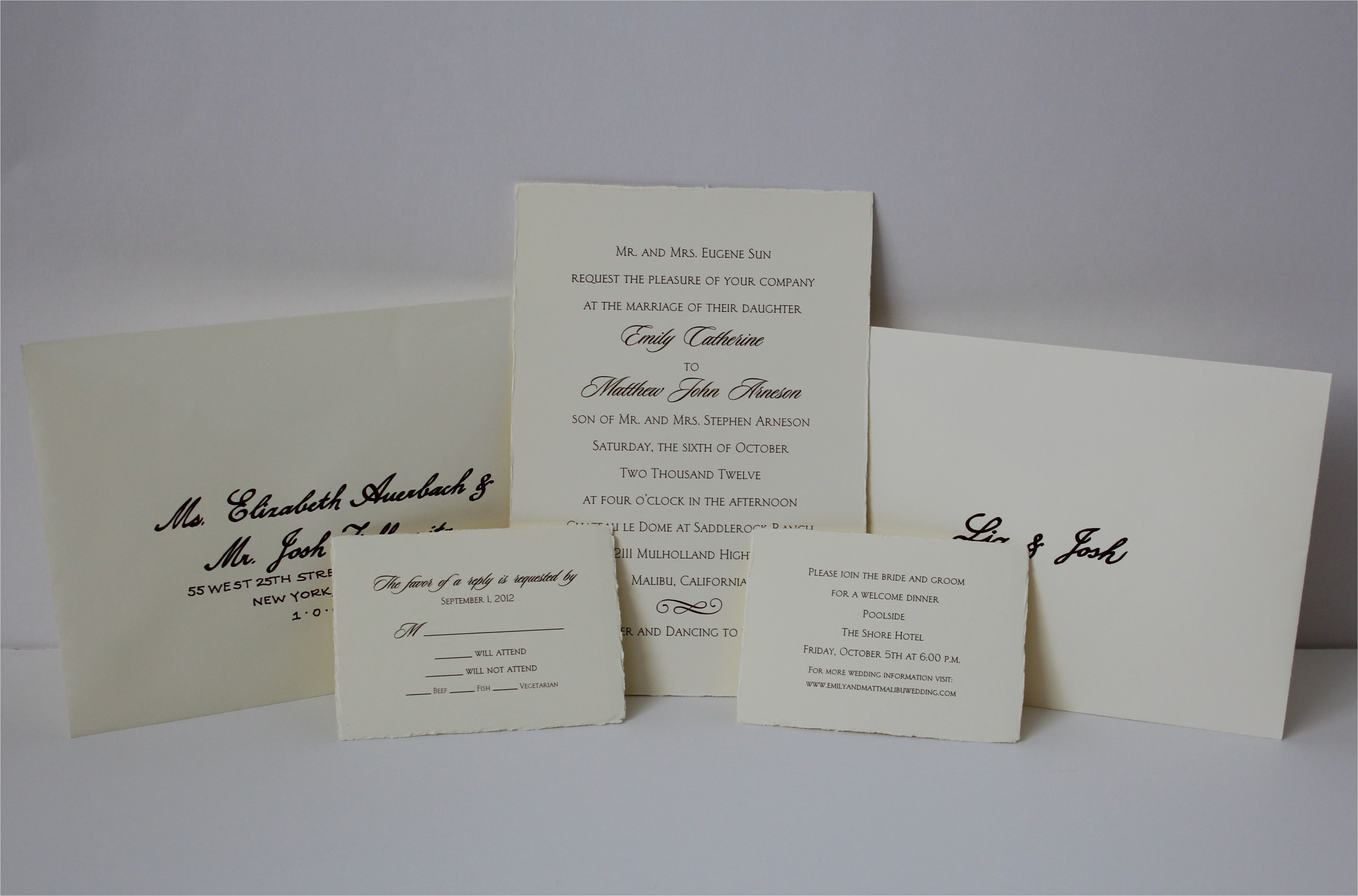 wedding invitation outer envelope size