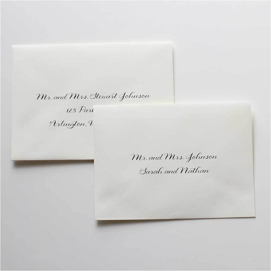 who else used inner and outer envelopes for their invitations