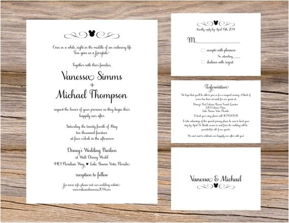 disney fairytale wedding invitation