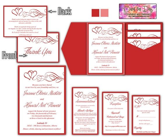 wedding invitation inserts