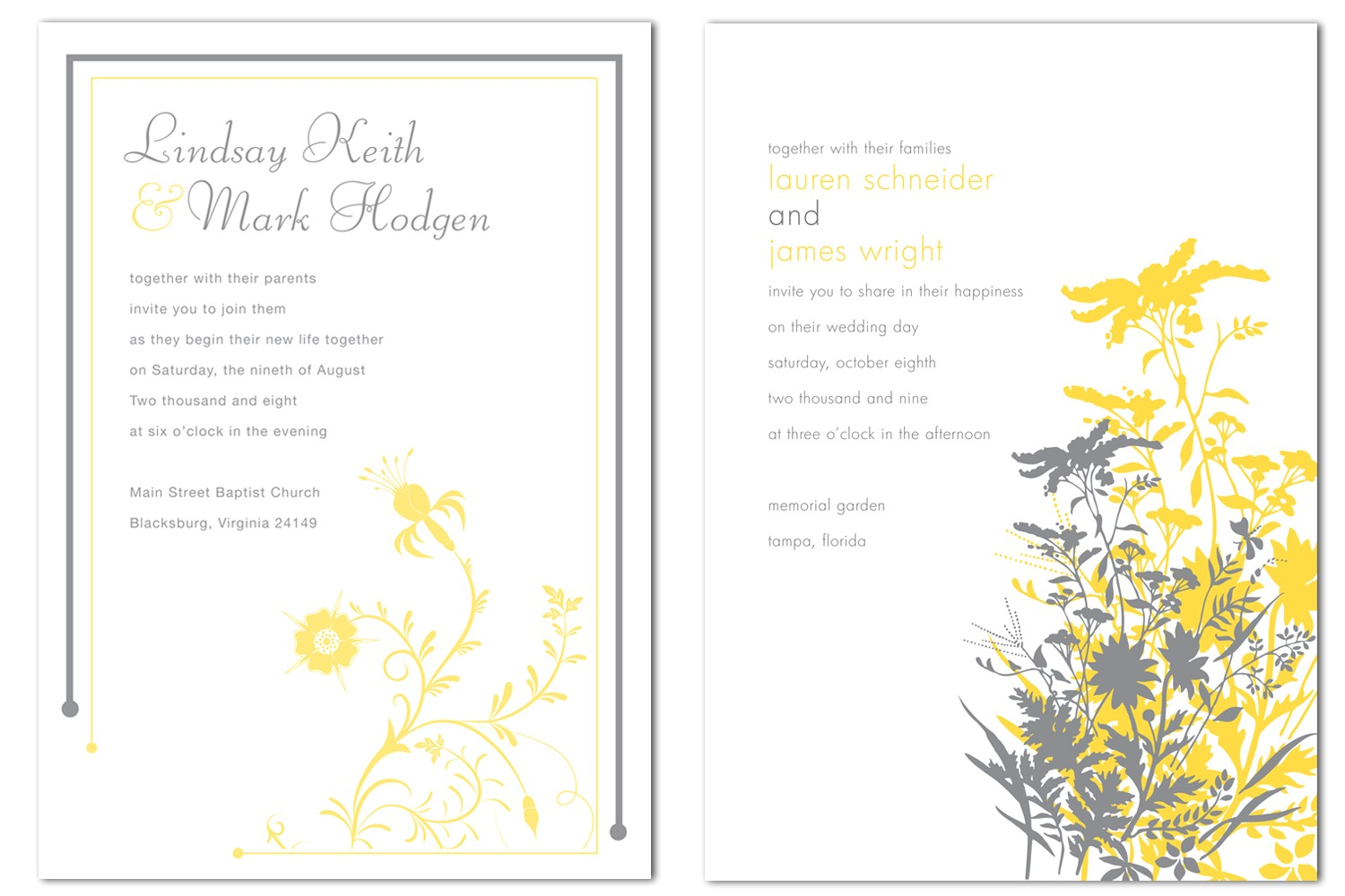 inside look wedding invitations