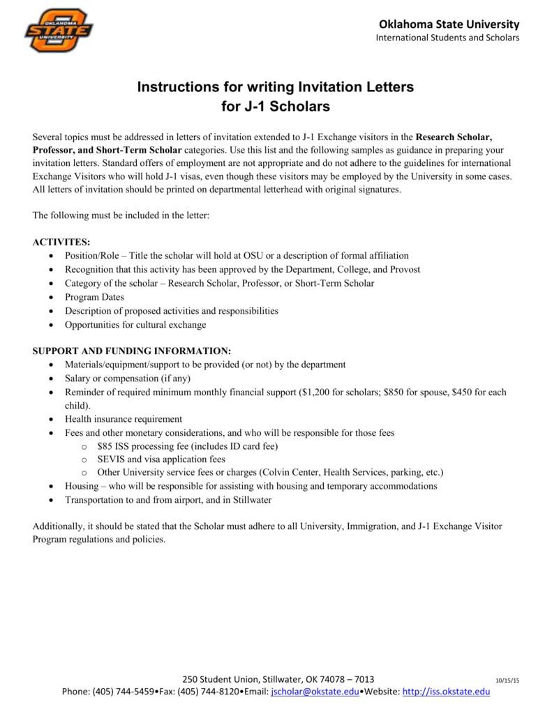 invitation letter academic exchange