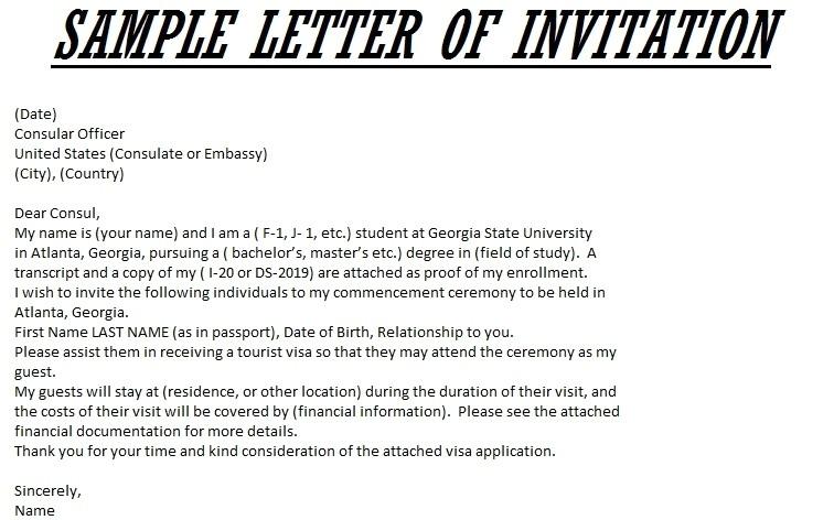 invitation letter for us visa template