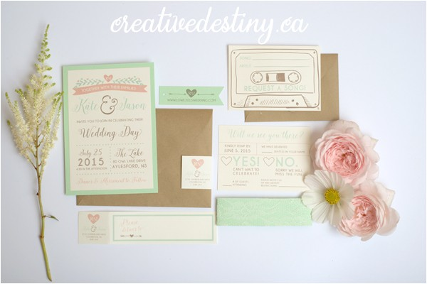k js intimate cottage wedding stationery