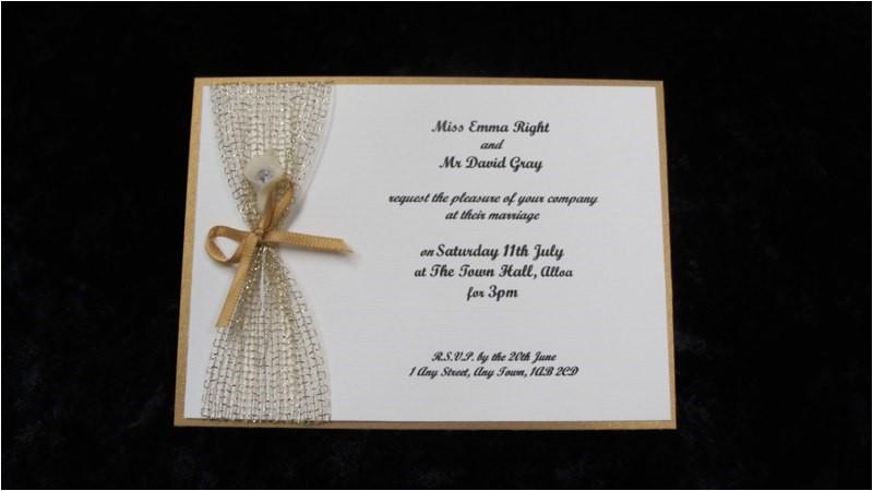 small wedding invitation wordi