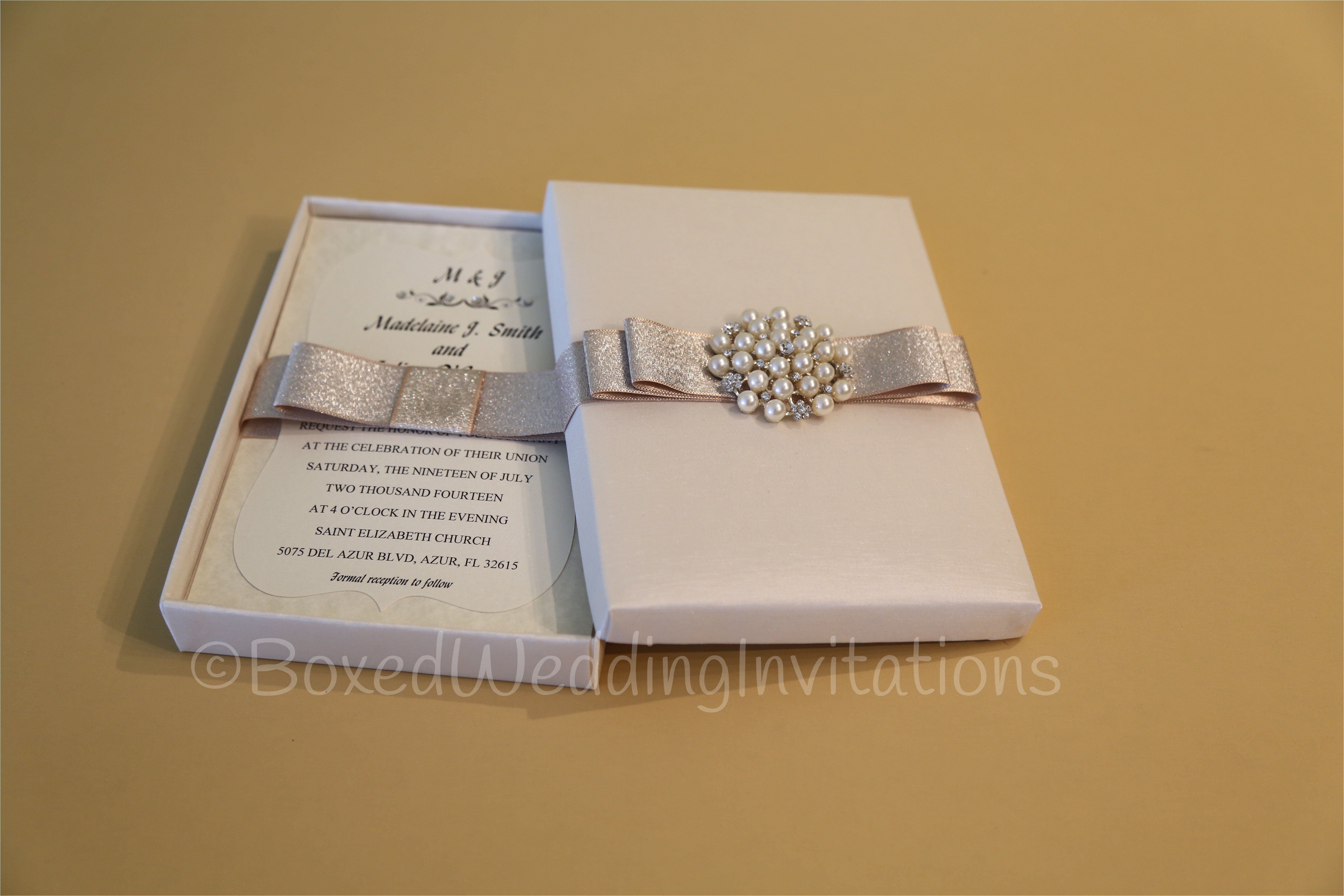 inspirational boxed wedding invitations