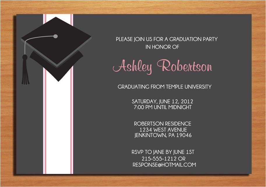 cap and ribbon graduation party