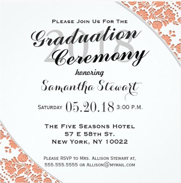 Invitation Cards for Graduation Ceremony 69 Sample Invitation Cards Free Premium Templates