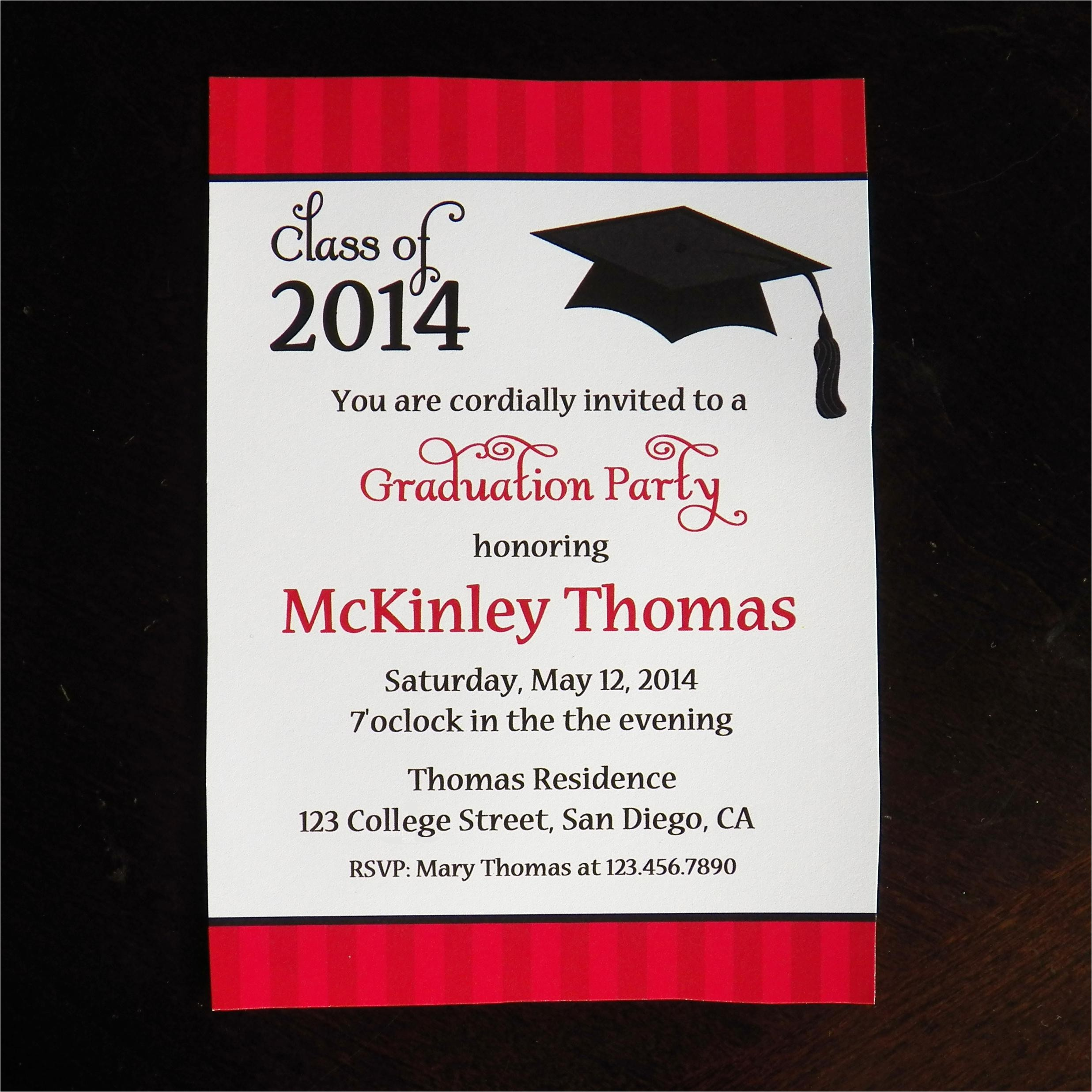 college graduation party invitations
