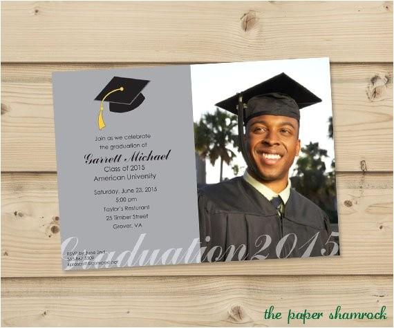photo graduation invitation high school