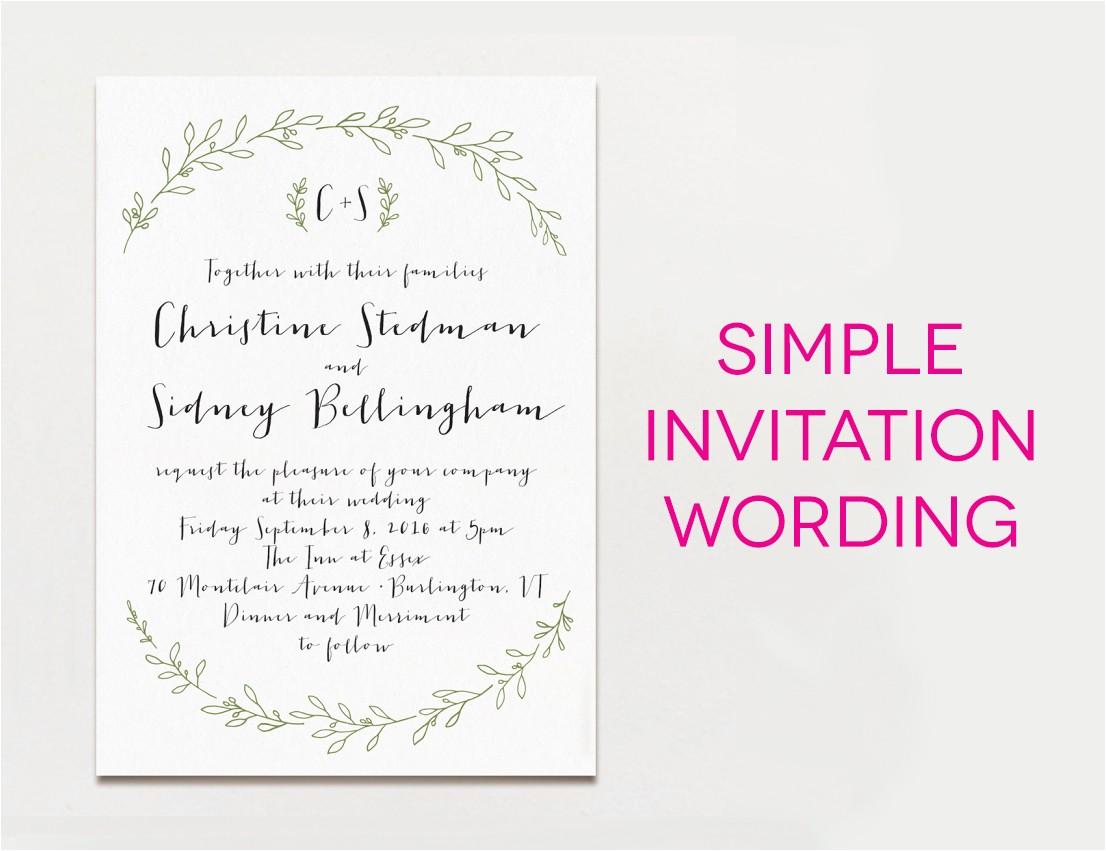 wedding invitation wording samples
