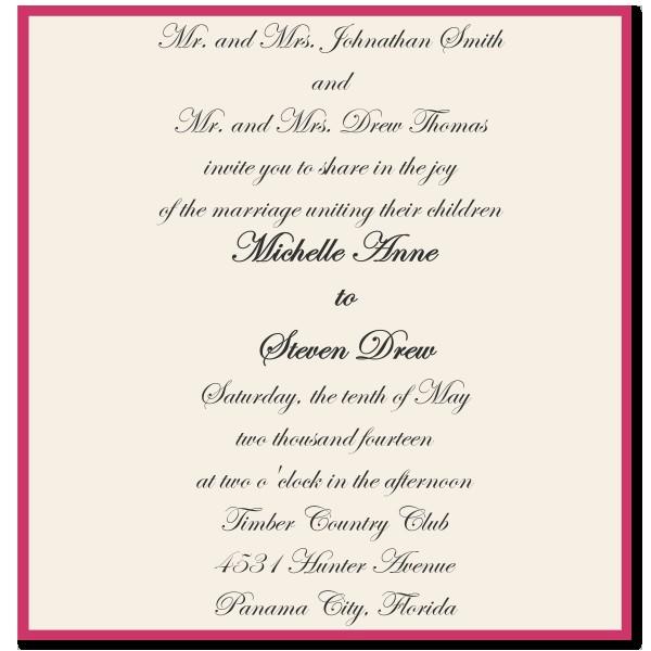 choose best wedding invitations wording
