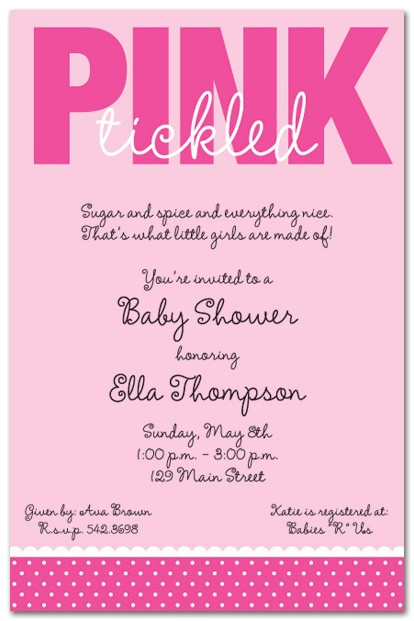 baby shower invitation wording for a girl