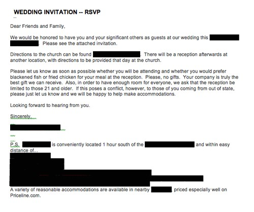 emailed or texted wedding invitations what do you think 1312