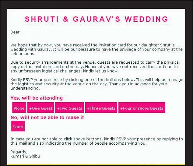 infosys founder sends bond style wedding invitations daughter ties knot bangalore