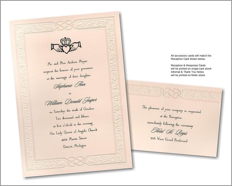 celtic wedding invitation wording