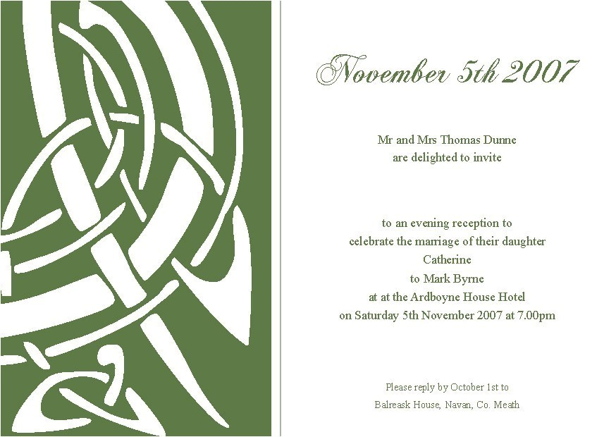 celtic wedding invitations template