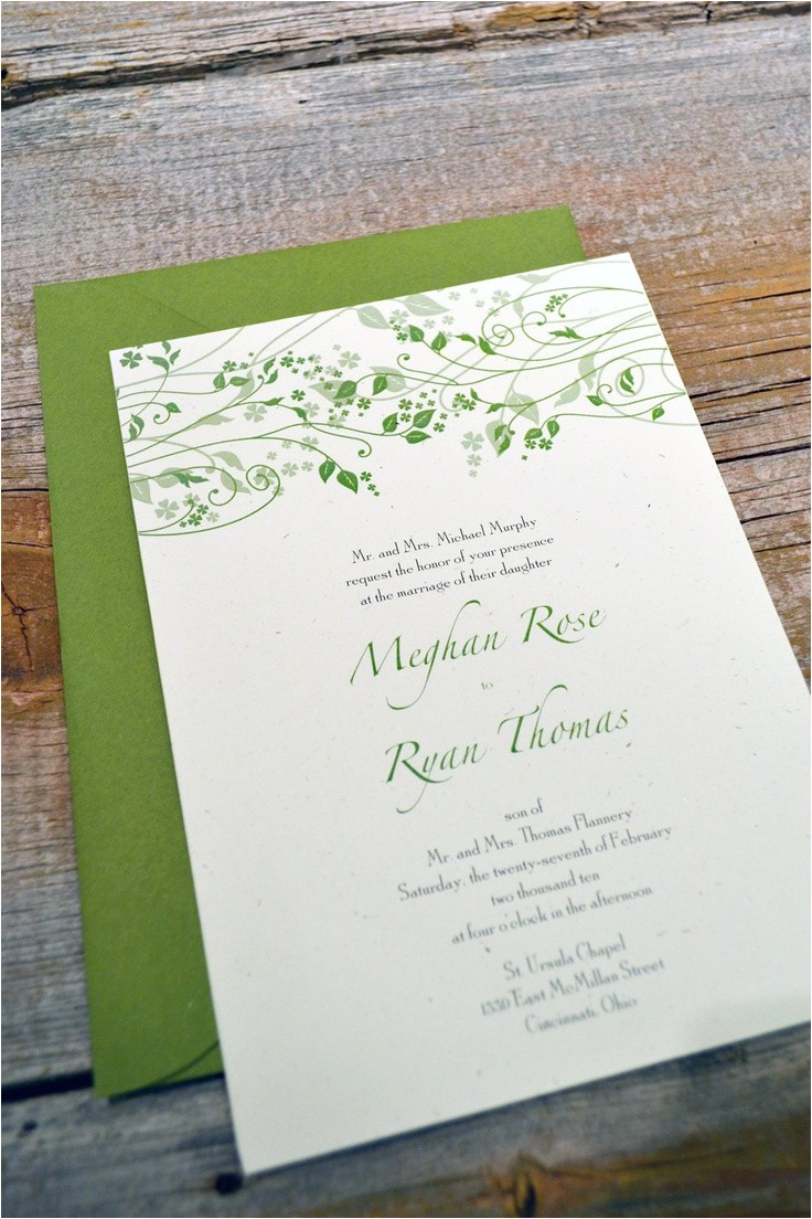 irish wedding invitations images on iris