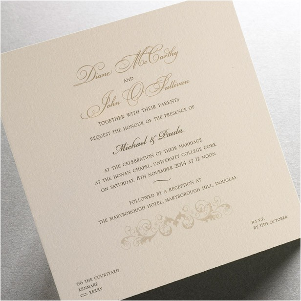 Irish Wedding Invitations Templates Irish Wedding Invitations Template Best Template Collection