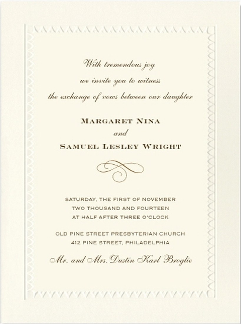 wedding invitation wording ireland