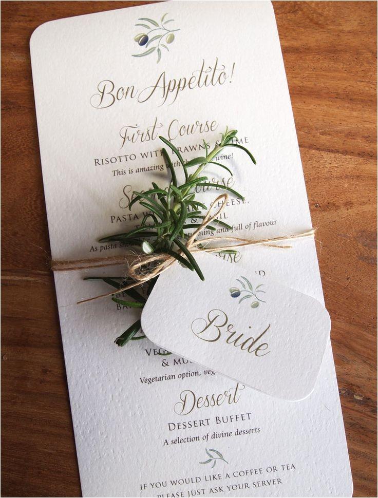 italian themed wedding invitations