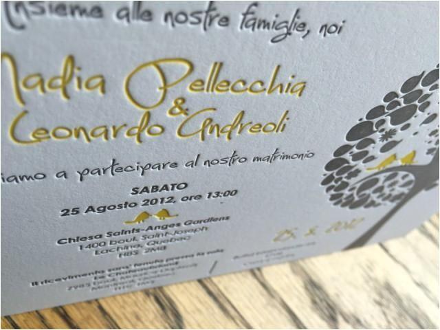 letterpress wedding invitation custom wedding invitation italian wedding letterpressed invite deposit