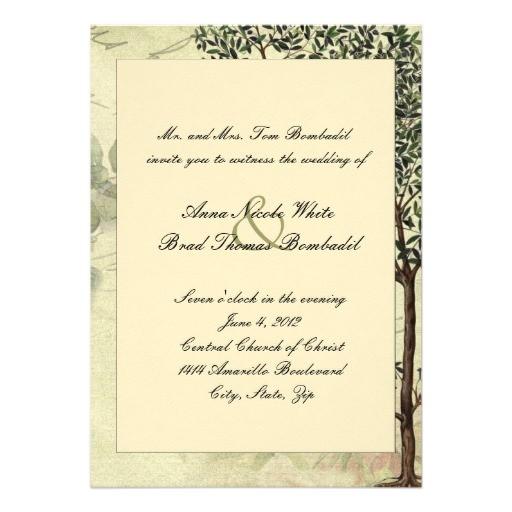 vintage italian myrtle tree wedding invitation 161561682408552908