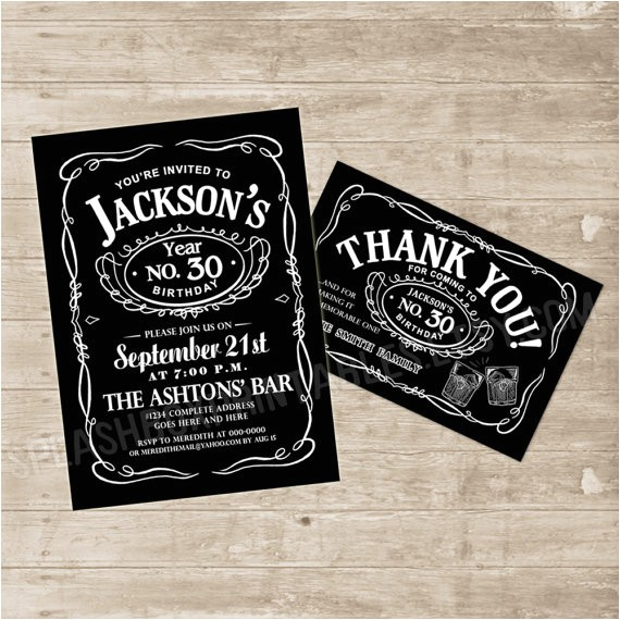 jack daniels invitation template
