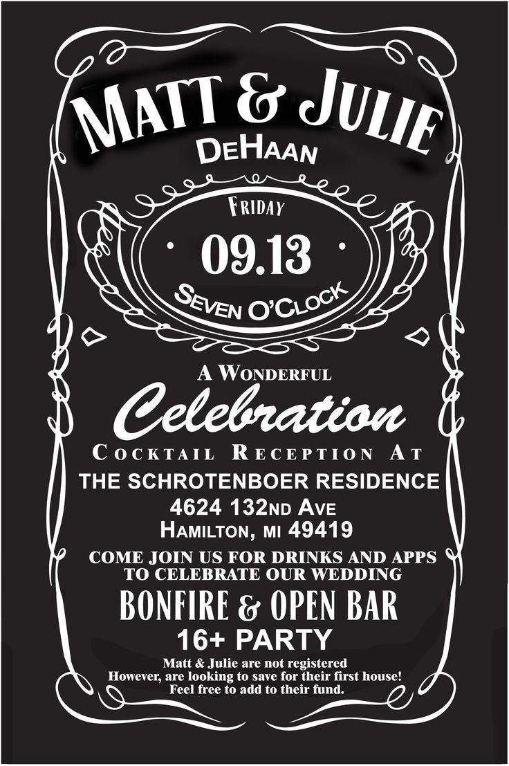 Jack Daniels Wedding Invitations Jack Daniels Wedding Invites Custom for Our Wedding