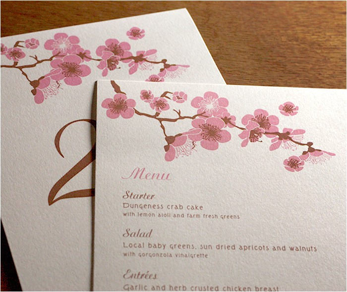 cherry blossom invitation designs
