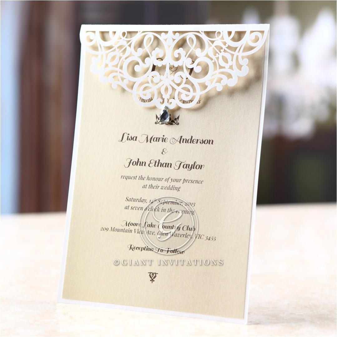 jeweled bridal shower invitations