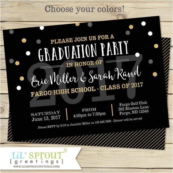 printable graduation invitation joint graduation party