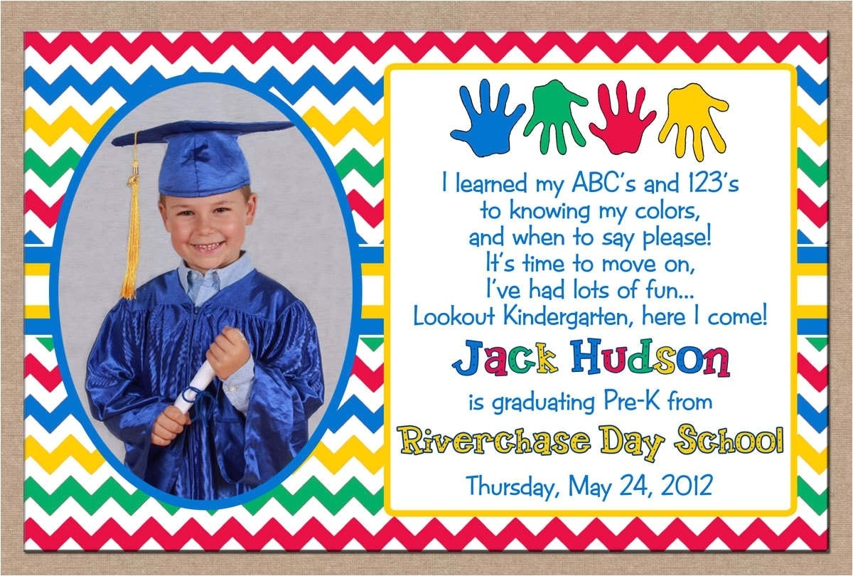 preschool graduation invitation ideas